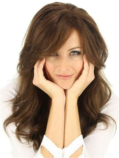 long hairstyles for round faces over 50 85 best hairstyles for women over 50 images on pinterest