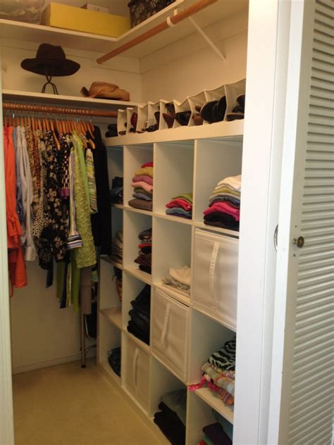 long narrow clothes closet design ideas with red runner