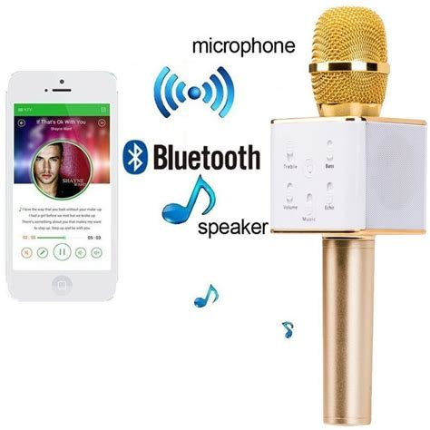 Microphone Speaker Portable Karaoke Ktv Wireless Mic Geek09 Series Ori wireless karaoke mic microphone with portable bluetooth speaker from category insasta