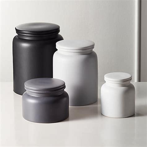 prep stoneware kitchen canisters cb