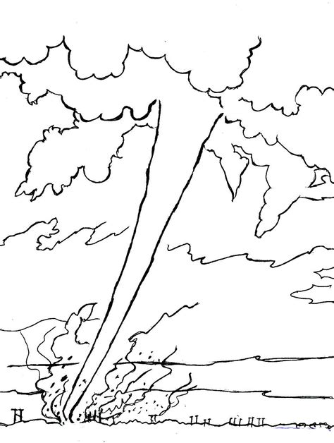 Tornado Coloring Pages To Download And Print For Free Tornado Coloring Pages