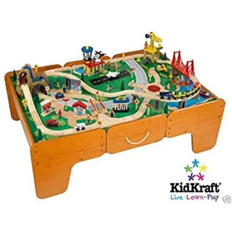 brio train table with drawers amazon com kidkraft waterfall mountain train set and