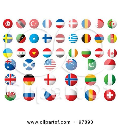 flags of the world round round world flags clipart 37