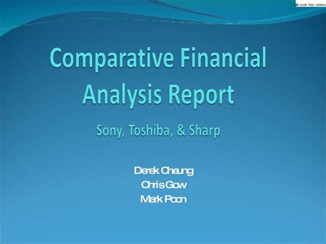 sle financial analysis report template sle comparative analysis report 28 images financial