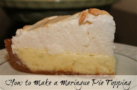 how to make a meringue pie topping recipe and tutorial