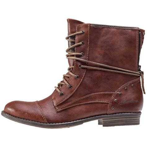 mustang ankle boot womens boots in cognac
