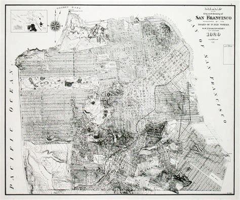 san francisco historic map vintage san francisco map michigan map