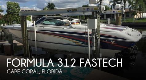 pontoon boats for sale cape coral florida sold formula 312 fastech boat in cape coral fl 094806