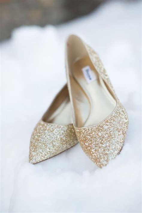 Glitter Flats Wedding by Gold Glitter Wedding Flats Omg Shoes