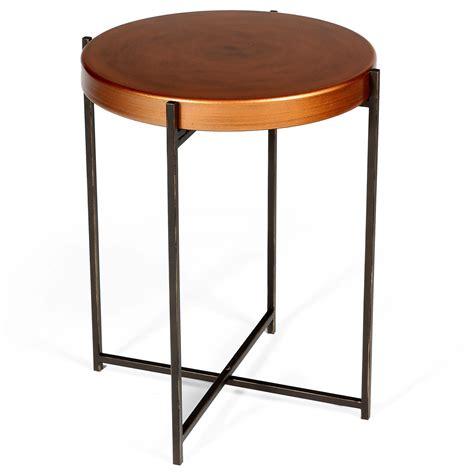 Copper Side Table Copper Side Table L Table Bedside Table Folding Legs Ebay