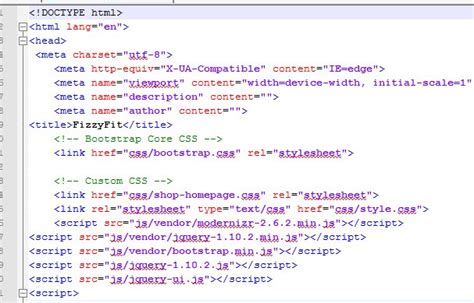design web page html language fizzyfit homepage code analysis o connell creative