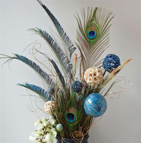 Feathers For Vases by Floral Arrangements Peacock Floral Arrangement By Rachelsheart