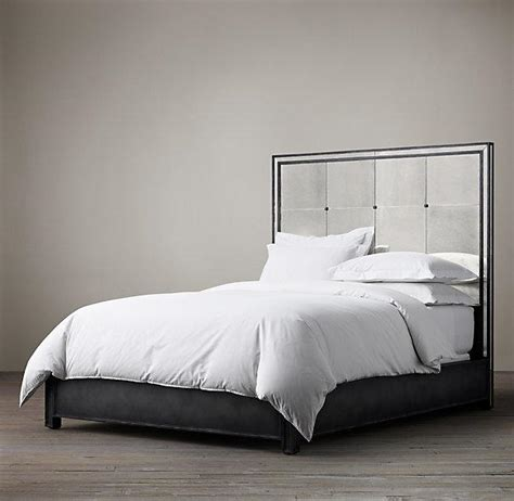 mirror headboard bed strand mirrored bed i restoration hardware