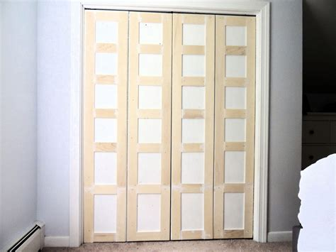 Doors For Closet by Remodelaholic Bi Fold To Paneled Door Closet Makeover