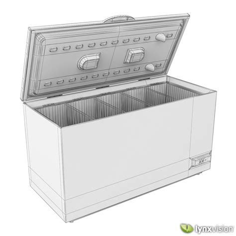 Freezer Box Electrolux electrolux chest freezer 3d model max obj fbx