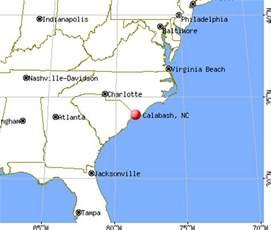 map of calabash carolina calabash carolina nc 28467 28468 profile