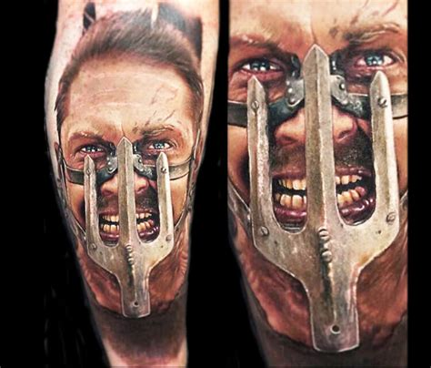 mad max from fury road tattoo by paul acker no 2068