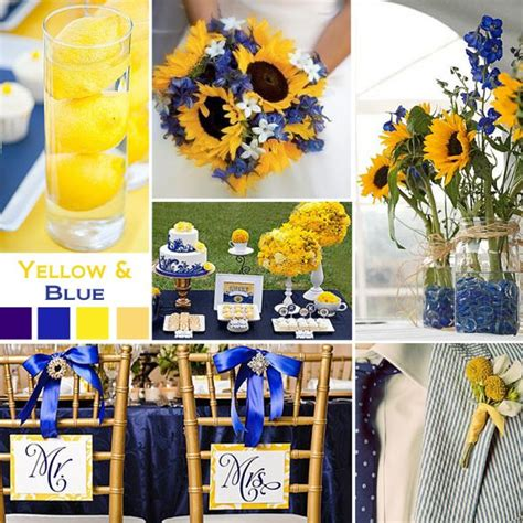 yellow and blue color schemes wedding color scheme weddingbee