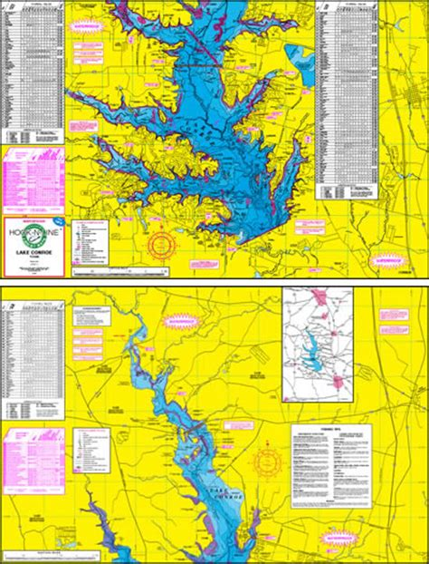 texas map store lake conroe fishing map