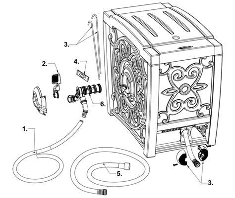 Garden Hose Diagram Rsi100 Parts Suncast 174 Corporation