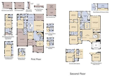 enclave floor plans enclave at villagewalk new homes in lake nona