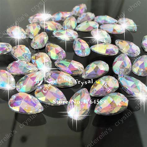 wholesale 2 holes 11x18mm 150ps transparent ab color
