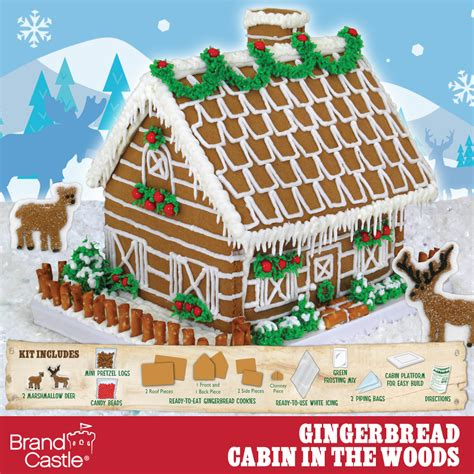 Woods Gingerbread House Commercial Cabin In The Woods Gingerbread Kit Crafty Cooking Kits