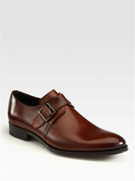 to boot cbell single monk shoes in brown for