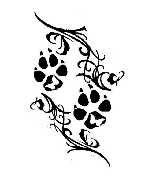 wolf print tattoo design clipart best clipart best