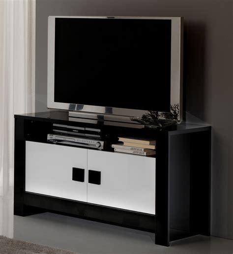 meubles tv meuble tv pisa laqu 233 e bicolore noir blanc noir blanc