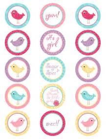 hello cupcake topper template items similar to printable its a bird color