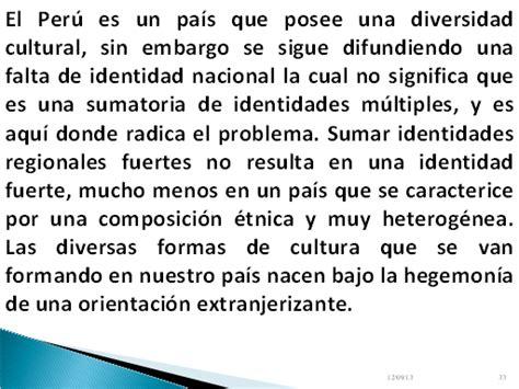 la identidad cultural no 843061916x identidad nacional en el per 250 monografias com