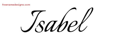 isabel archives free name designs