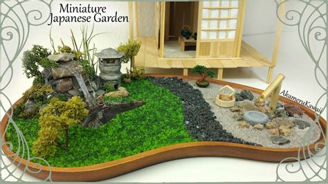 mini japanese garden miniature japanese inspired garden w working lantern