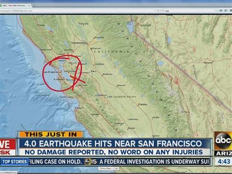 earthquake california bay area 4 1 earthquake shakes san francisco bay area