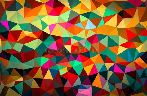 colourful abstract geometric background  triangular
