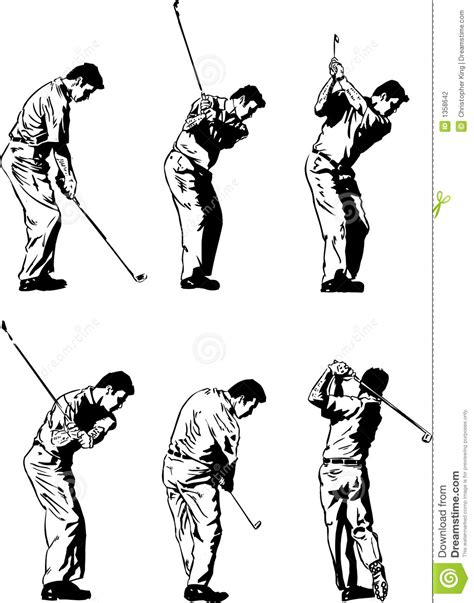 swing illustration golf swing illustrations stock photography image 1358642