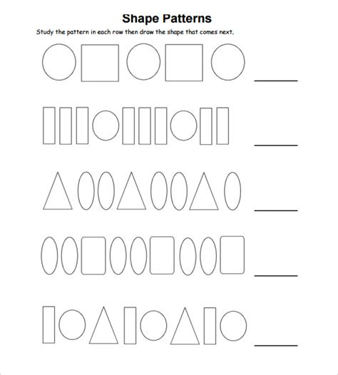 patterns with shapes and pictures worksheets sle patterning worksheet 13 documents in pdf word