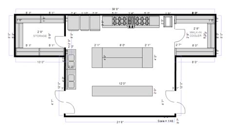 commercial kitchen floor plans kitchen planning software easily plan kitchen designs