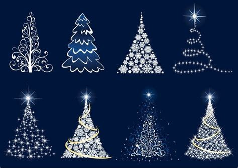 abstract christmas tree vector set free vector in