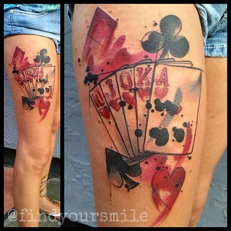 watercolor tattoo york pa watercolor watercolor palying cards