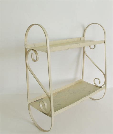 Metal Bathroom Wall Shelves Vintage Metal Shelf Wall Hanging Shelf From Simple Treasury