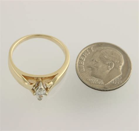 engagement ring 14k yellow white gold cathedral