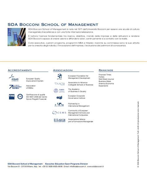 Bocconi Mba Fees by Brochure E Social Media Per La Comunicazione