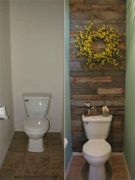 Diy Pallet Wood Wall For A Bathroom Diy