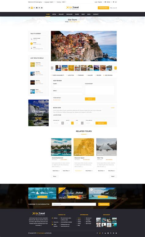 themeforest travel travel html template by tmdstudio themeforest