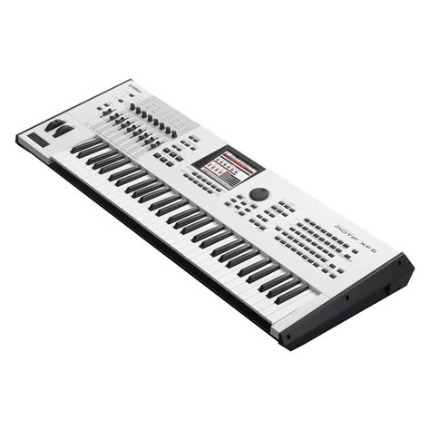 Keyboard Yamaha Motif Xf6 yamaha motif xf6 keyboard workstation limited edition white ex demo at gear4music
