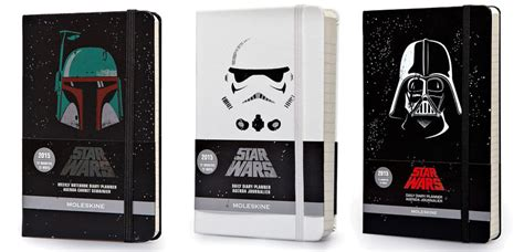 2016 moleskine star wars moleskine new star wars 2015 planners featuring boba fett storm troopers and darth vader