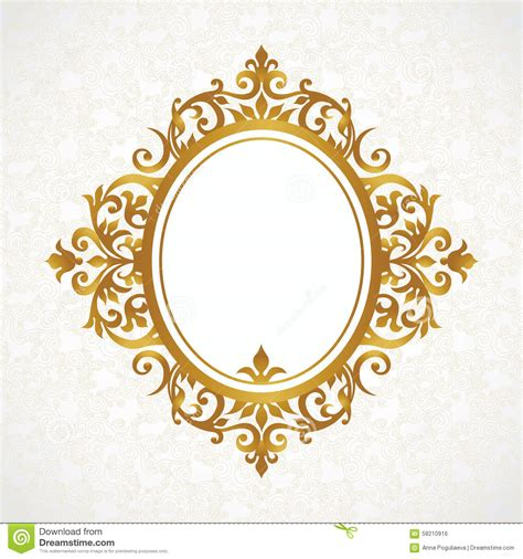 glitter and gold testo vector decorative frame in style stock vector