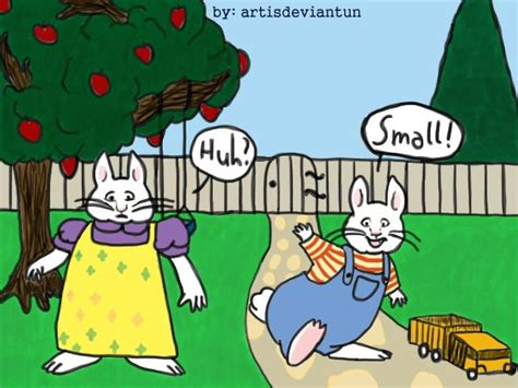 max and ruby painting max and ruby request for cyberfox by artisdeviantun on
